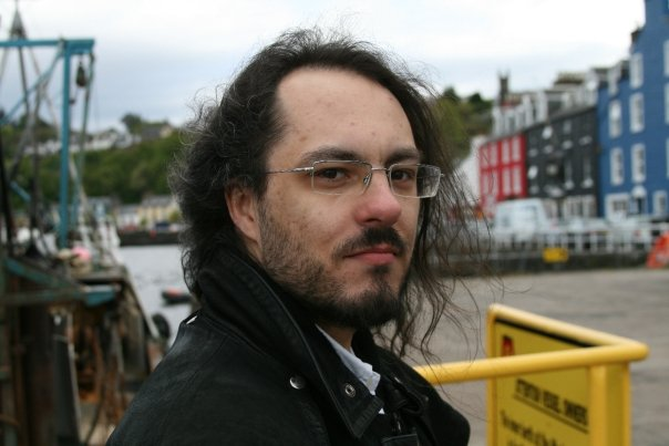 Me on the wharf at Tobermory, April 2009